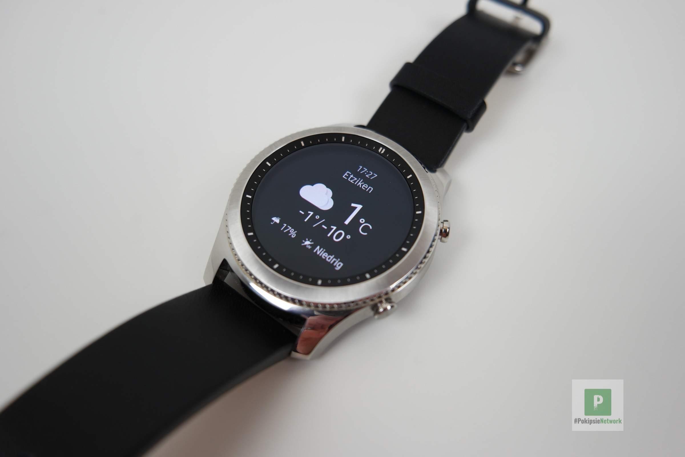 Samsung Gear S3 Classic Testbericht Pokipsies Digitale Welt Silver Die Wetteranzeige