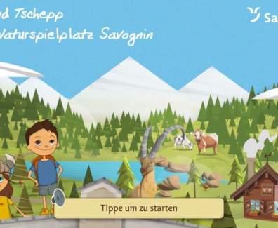 Turba und Tschepp Kinder App für Savognin