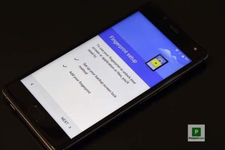 Fingerprint konfigurieren