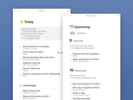 macOS aktuell und bald kommenden Tasks