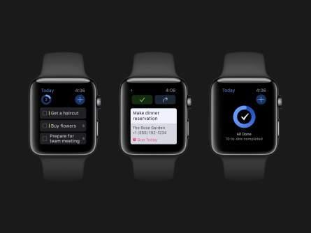 Things auf der Apple Watch