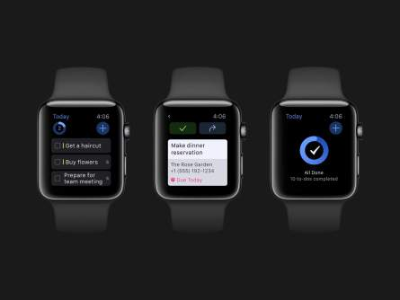 Things auf der Apple Watch