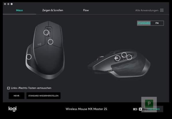 Flow Einstellungen für die «Maus»