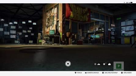 Per Knopfdruck kann auf die Kamera des Jumper gewechselt werden