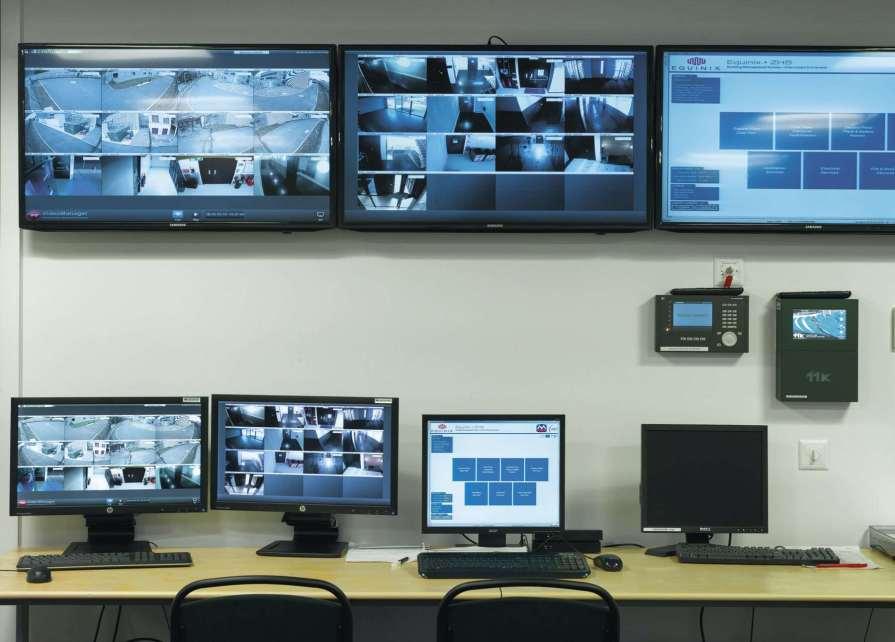 Ein kleiner Teil der Überwachungszentrale