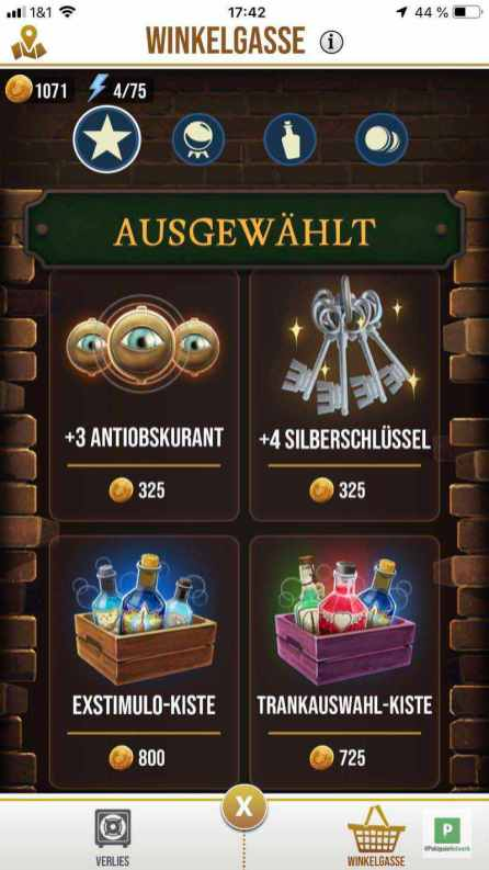 Harry Potter: Wizards Unite - Items für Gold