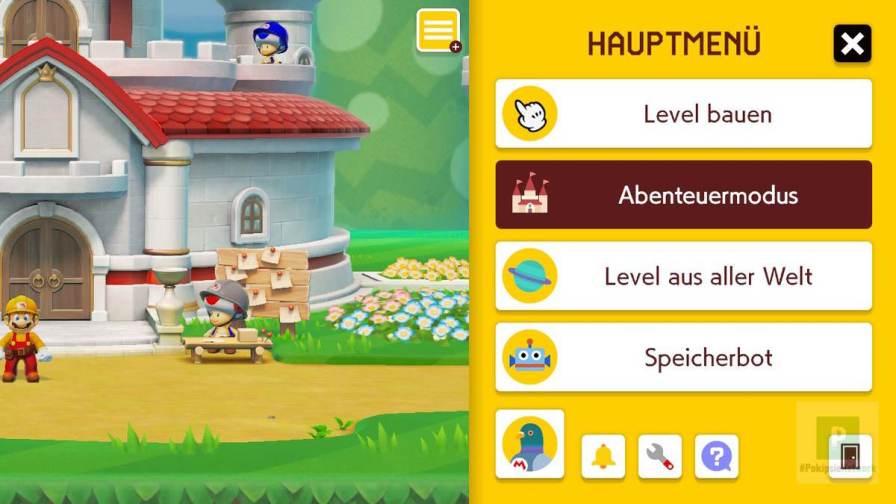 Super Mario Maker 2 Menü