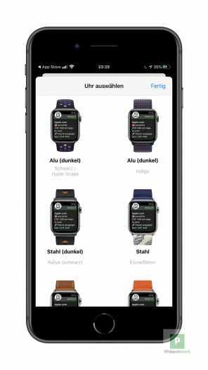 Die Apple Watch auswählen