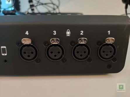 Die vier XLR-Ports