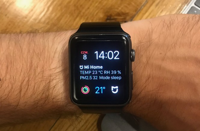 MiHome apple watch