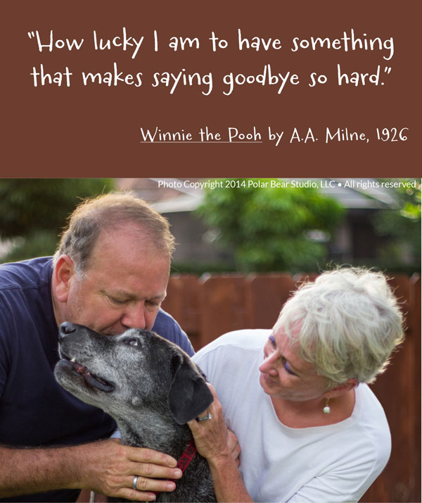 Duncan and family - Winnie the Pooh Quote - How Lucky I am...