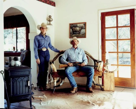 Kim McElroy, Horse Whisperer, & Dave Powell, Rancher, Broken Horn D Ranch, Arizona 2008