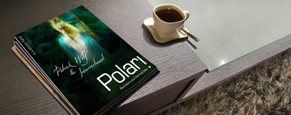 Polari Magazine, LGBT arts and culture magazine, with Patrick Wolf, on a coffee table