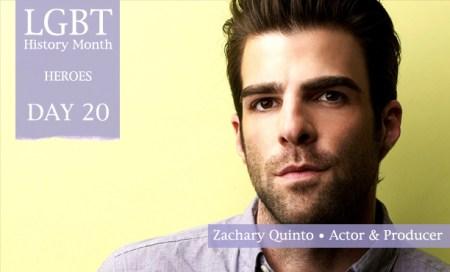 Zachary Quinto, LGBT History Month Heroes 2012, Polari Magazine