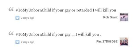 Homophobes tweets captured, gay online magazine