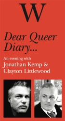 Dear Queer Diary Jonathan Kemp Clayton Littlewood Waterstones Brighton