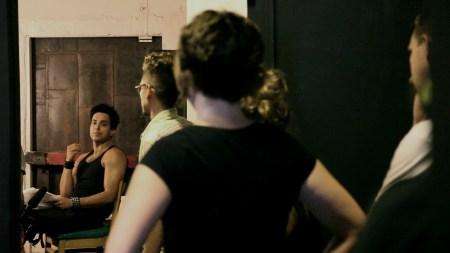 Val Lauren. Interior. Leather Bar, On set