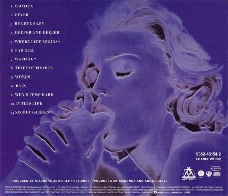Erotica, Madonna Album, Reverse