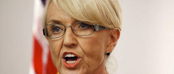 An image of Senator Jan Brewer who vetoed SB 1062 which would have allowed business to discriminate on the basis of religious freedom.