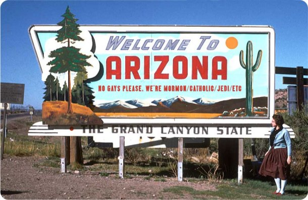 Welcome To Arizona, No Gays Religious Freedom, Polari Magazine