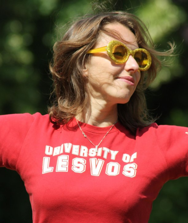 Rosie Wilby in red t-shirt