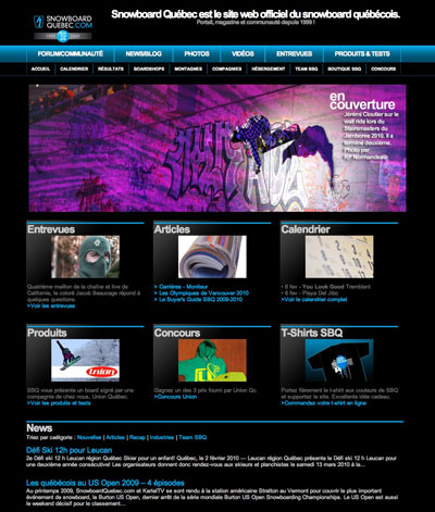 design web pour sbq