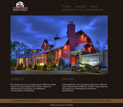 site web pour macon et construction