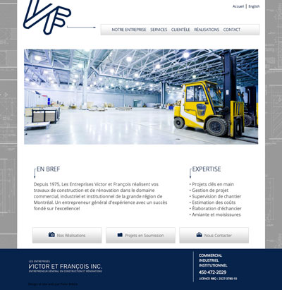 site web de construction