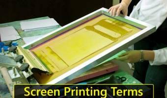 Screen Printing Terms