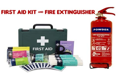 First Aid Kit And Fire Extinguisher