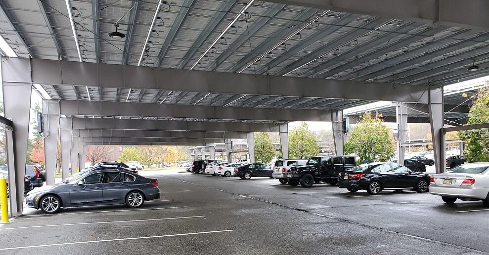 solar carport mounting system single