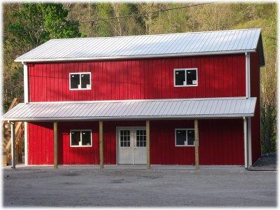 2 Story Pole Barn Construction Gloria140