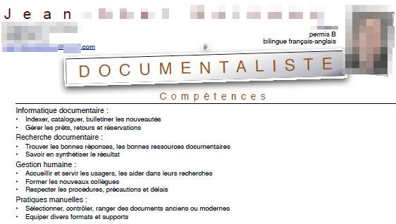 analyse de cv  u0026quot documentaliste bilingue u0026quot   avec jean