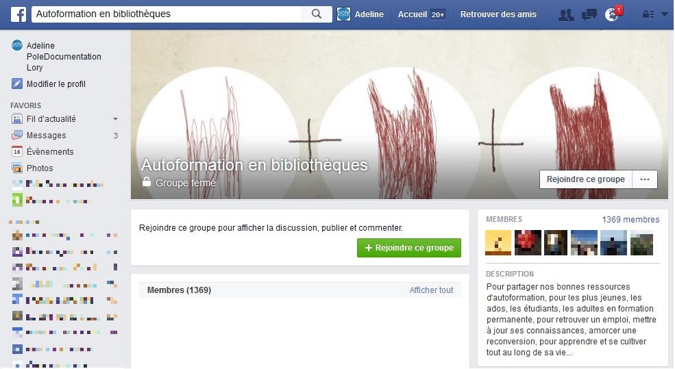 autoformation bibliotheques facebook