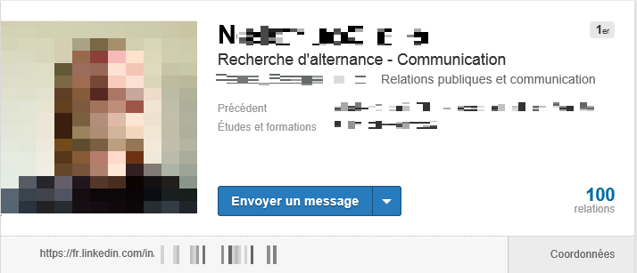 analyse de profil linkedin   communication digitale