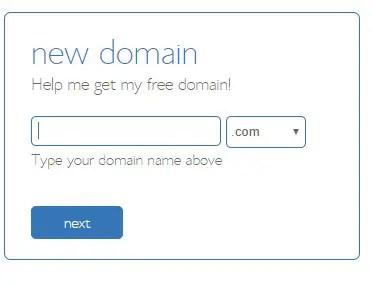 Start a fitness blog: Bluehost screenshot new domain