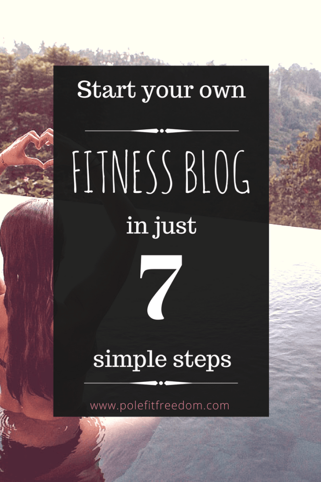 Start Your Own Fitness Blog Pin