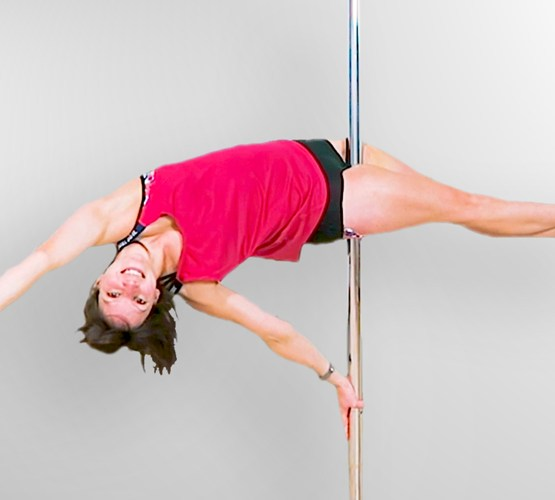 Pole Dance Plank Hold