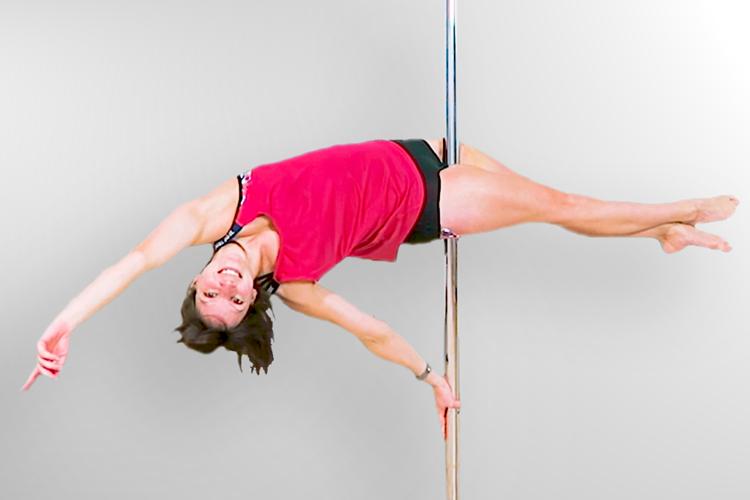 Pole Dance Plank Hold