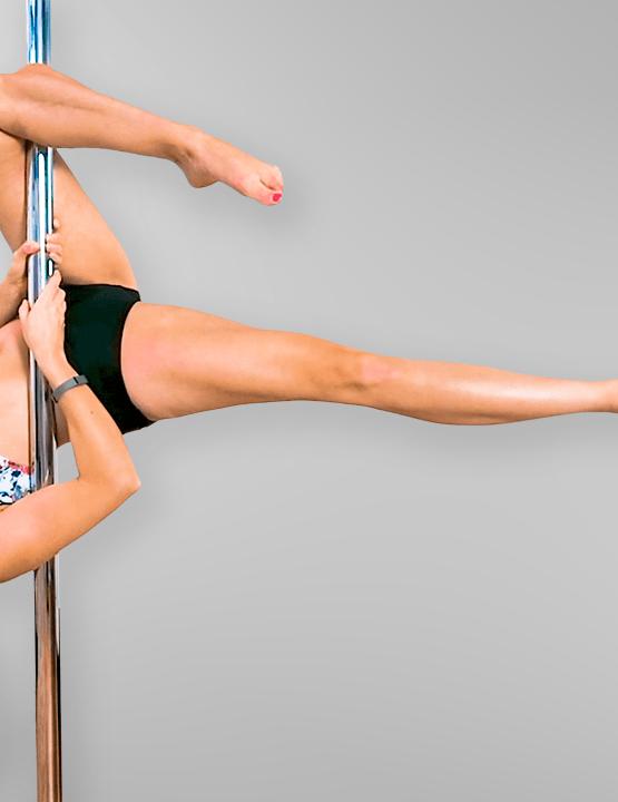 Outside Leg Hang Pole Dance Move