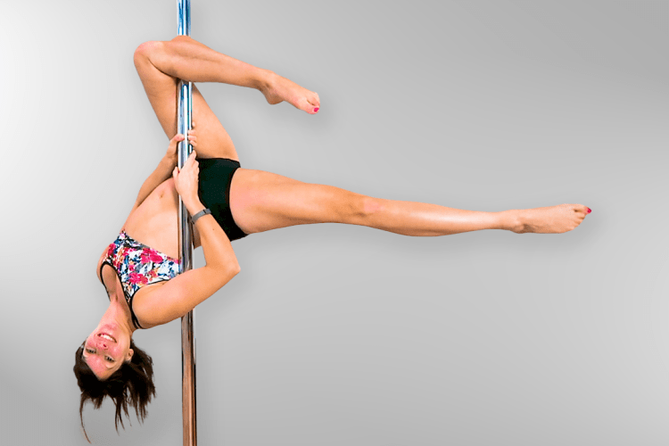 Outside Leg Hang Pole Dance Move