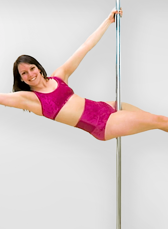 pole dance moves from a layout