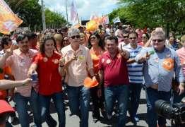 Ricardo faz caminhada em Campina e afirma que vai manter postura ética para conquistar uma vitória limpa