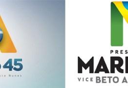 Logomarca de Aécio no 2º turno é similar ao de Marina no 1º