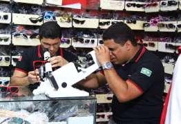 Ministério Público apreende óculos vendidos irregularmente no centro da Capital