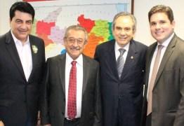 Após ser empossado no Senado, Raimundo Lira se reúne com Hugo Motta, Manoel Júnior e José Maranhão