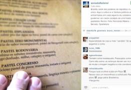 "Senado posta cardápio no Instagram com ""pastel Congresso sabor pizza"""