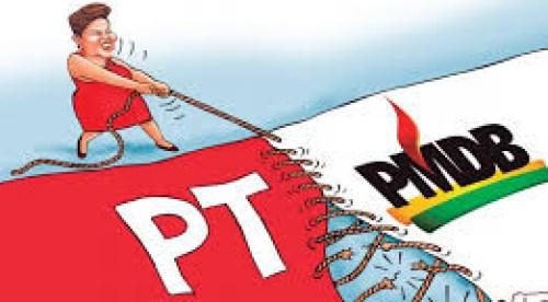 pmdb pt e1426760952796 - Destino da presidente Dilma Rousseff depende do PMDB, que flerta com a oposição