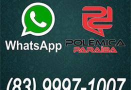 Participe você também do Blog Polêmica Paraíba pelo WhatsApp