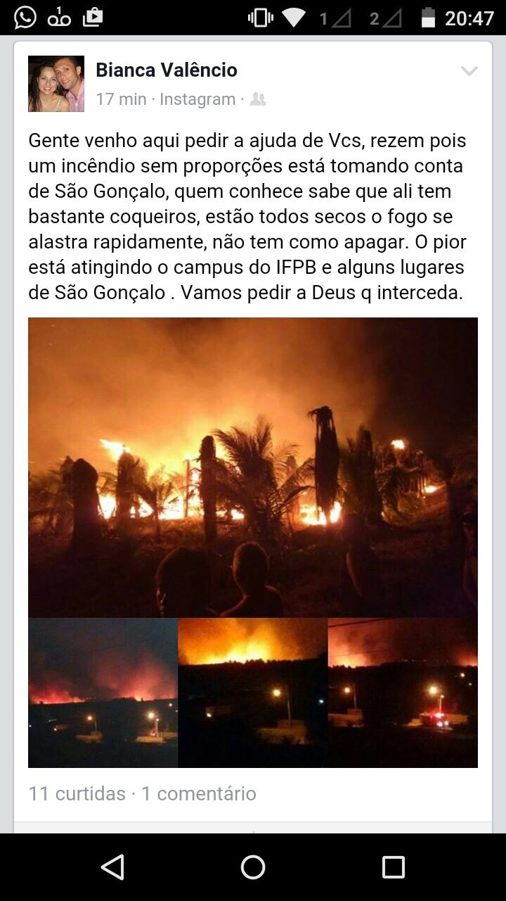 ApVDxvwP7vNtKpvdrPzi32zXTbmr 7X8vbd97zOBnNw5 - VEJA VÍDEO: Incêndio em Sousa ameaça Campus do IFPB
